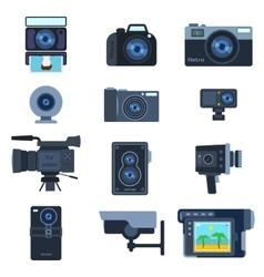 Camera set vector image vector image