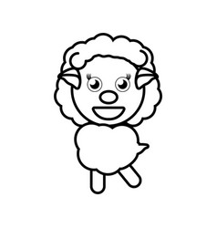 cartoon sheep animal outline vector image vector image