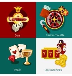 Casino Concept Set vector image vector image