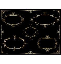 decorative ornate frames vector image vector image