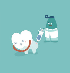 dentist going to inject tooth concept of dental vector image vector image