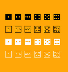 dice nubes set black and white icon vector image vector image
