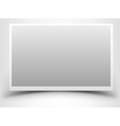 Empty gray photo frame with shadow vector image vector image