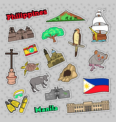 philippines travel set with architecture vector image vector image