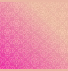pink background with floral ornamental vector image vector image