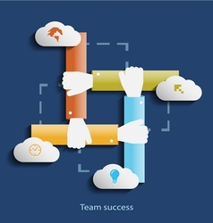 Team success flat design concept template with vector image vector image