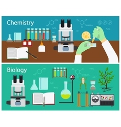 Chemistry and biology vector image