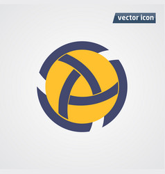 circle flat design vector image vector image