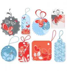 cute price tags vector image vector image