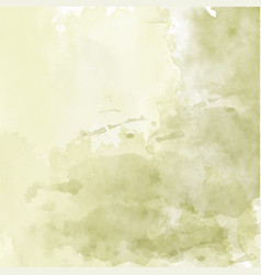 Olive hand drawn watercolor background vector