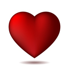 Red heart icon isolated on white vector image
