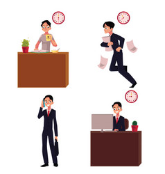 work day typical morning of businessman career vector image vector image