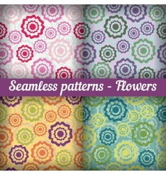 Flowers Seamless pattern set Abstract background vector image vector image