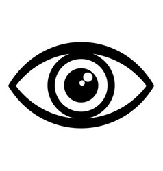 human eye icon simple style vector image