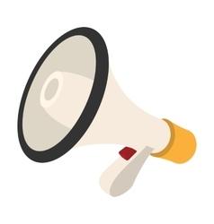 Loudspeaker cartoon icon vector image