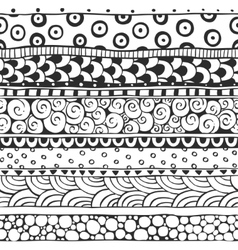 Seamless ornament from the semi-circles and vector image vector image