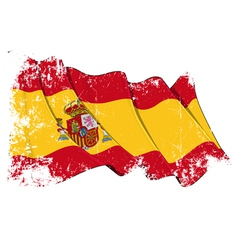Spain Flag Grunge vector image vector image