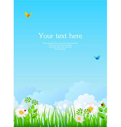 summer back with grass vector image vector image