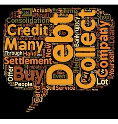 The Pros And Cons Of Credit Card Debt Settlement vector image vector image