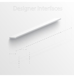3d plan and board Design interface vector image