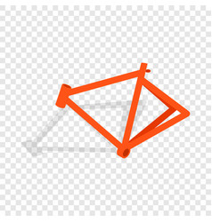 bicycle frame isometric icon vector image