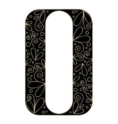 Decorative letter shape Font type A vector image vector image