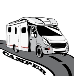 Hand drawn Doodle cars Recreational Vehicles vector image