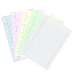 school papers vector image