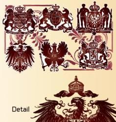vintage heraldry emblems vector image vector image