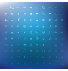 100 popular web icons eps 10 vector