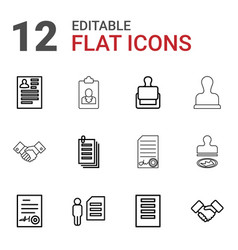 12 contract icons vector