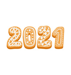 2021 happy new year greeting typography for card vector image