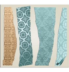 4 cracked wallpaper set vector image