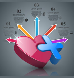 Abstract 3d digital infographic vector