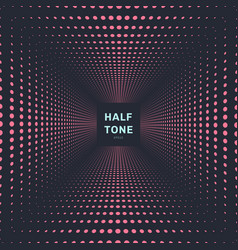 abstract pink color halftone room perspective vector image