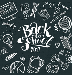 Back to school with doodle frame vector