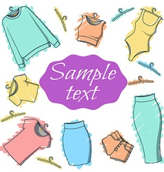 Background clothes for design of printed materials vector
