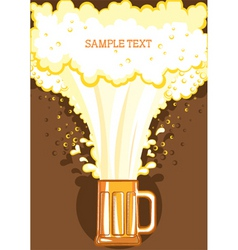 beer festival background vector image