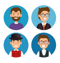 best fathers styles group characters vector image