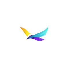 Bird design logo vector