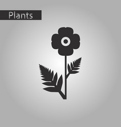 Black and white style icon of papaver vector