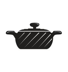 Black cook pot vector