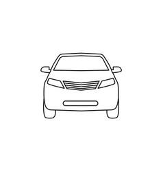 car line icon black on white vector image