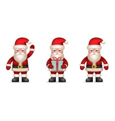 Cartoon Santa Claus Toy Character icons Set vector image