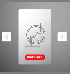 Chain connect connection link wire line icon in vector