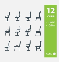 Chair icons vector image