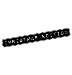 Christmas Edition rubber stamp vector image