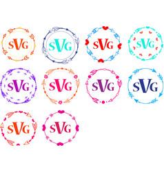 circle arrow frames for monograms vector image