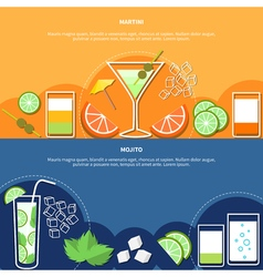 Cocktail Horizontal Banners vector image
