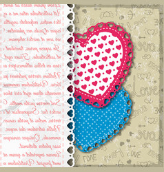 Colored valentine s day background vector